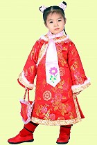 Girl's Brocade Wadded Cheongsam Dress w/ Scarf (RM)