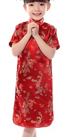 Girl's Dragon & Phoenix Cheongsam Dress (RM)