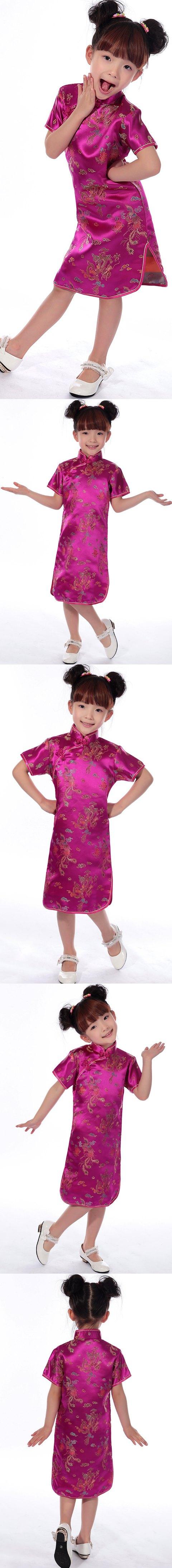 Girl's Dragon & Phoenix Cheongsam Dress (RM)