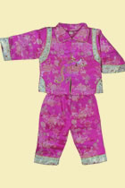 Girl's Brocade Wadded Mandarin Suit (RM)