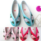 Girl's Peony Mudan Embroidery Shoes (Multicolor)