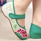中跟繡花鞋(綠色)