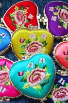 Mudan Peony Embroidery Compact Mirror (Multi-color)