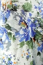 Fabric - Floral Imitation Silk