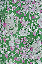Fabric - Floral Imitation Silk (Multicolor)
