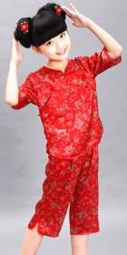 女童印花中式套裝 (成衣)