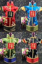 Chinese Ethnic Brocade Cheongsam Bottle Clothes