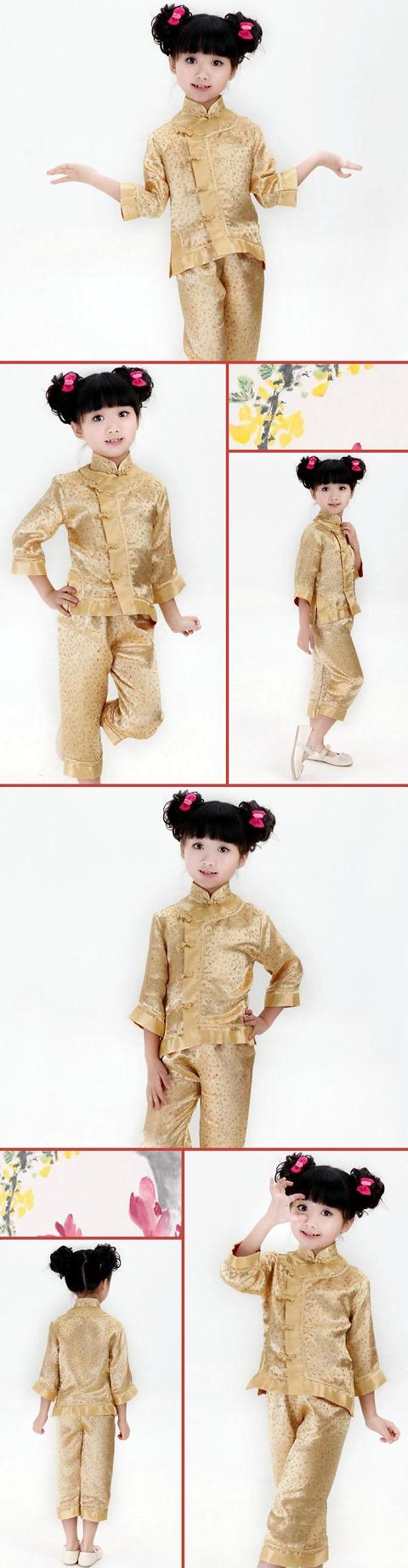 女童中式套裝