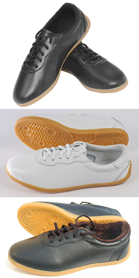 Professional Calf Leather Taichi Sneakers