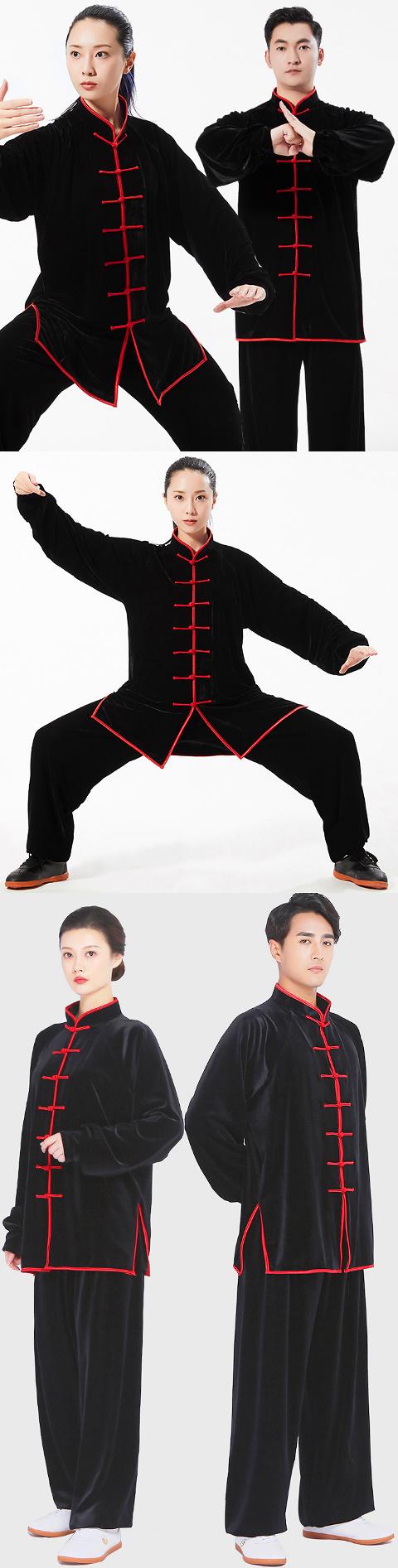 Professional Taichi Kungfu Uniform with Pants - Velvet (RM)