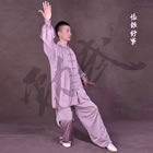 Professional Taichi Kungfu Uniform with Pants - Silk Fibroin Satin - Lavender (RM)