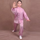 專業太極武術練功服連褲 - 絲素緞 - 紫羅蘭色