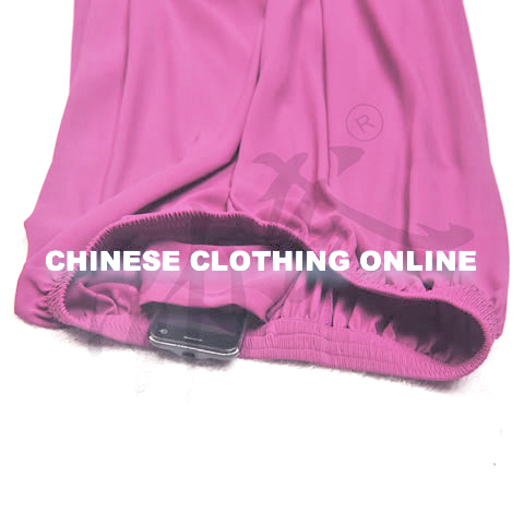 Professional Taichi Kungfu Pants - Ice Silk Linen - Purple (RM)