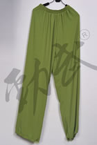 Professional Taichi Kungfu Pants - Ice Silk Linen - Olive Drab (RM)
