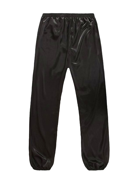 Professional Taichi Kungfu Pants - Korean Silk - Black (RM)