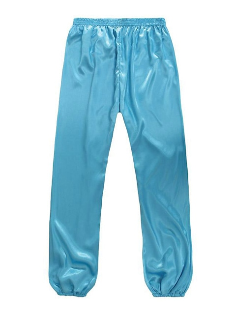 Professional Taichi Kungfu Pants - Korean Silk - Deep Sky Blue (RM)