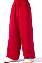 Professional Taichi Kungfu Pants - Cotton/Silk - Red (RM)