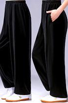 Professional Taichi Kungfu Pants - Velvet - Black (RM)