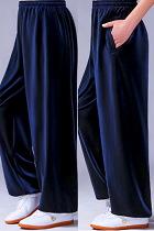 Professional Taichi Kungfu Pants - Velvet - Navy (RM)
