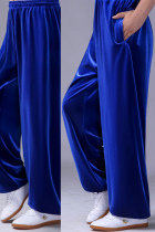 Professional Taichi Kungfu Pants - Velvet - Sapphire Blue (RM)