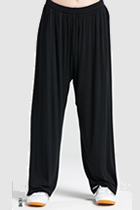Professional Taichi Kungfu Pants - Modal - Black (RM)