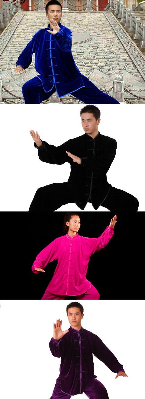 Velvet Mandarin Collar Binding-cuff Kung Fu Jacket / Shirt (CM)