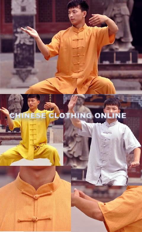 Mandarin Collar Short-sleeve Kung Fu Shirt (CM)