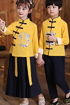 Embroidery Mandarin Suit for Boys and Girls (RM)