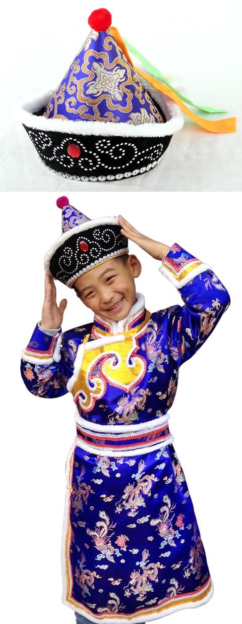男童蒙古帽