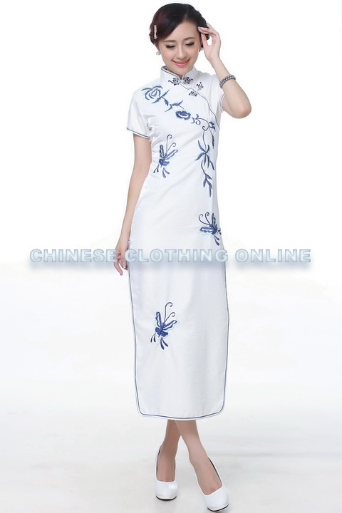 Short-sleeve Long-length Embroidery Cheongsam (RM)