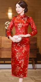 Long-sleeve Long-length Brocade Cheongsam (RM)