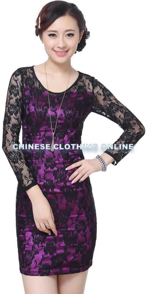 Long-sleeve Short-length Cheongsam (RM)