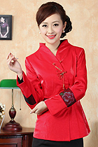 Mandarin Embroidery Jacket (Red)