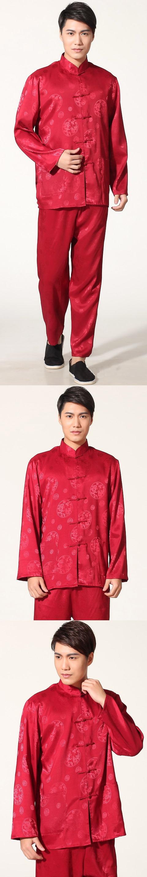 Dragon Embroidery Mandarin Jacquard Suit (RM)