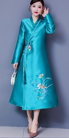 Modernized Hanfu-style Embroidery Long-sleeve Dress (RM)