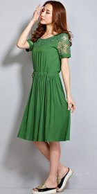 Ethnic Embroidery-gauze Cotton Dress (RM)