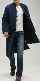 Standing Collar Wadding Long Coat (CM)