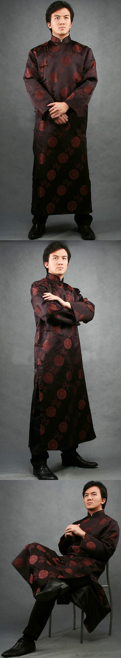 Mandarin Jacquard Robe (CM)