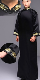 Dragon Embroidery Mandarin Robe w/Folding Cuffs (RM)