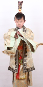 Boy's Han Scholar-bureaucrat Court Dress w/ Crown (RM)