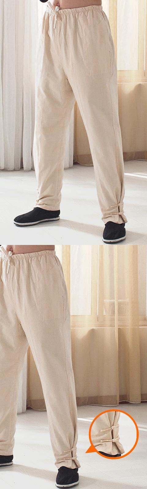 唐裝粗棉長褲(成衣)