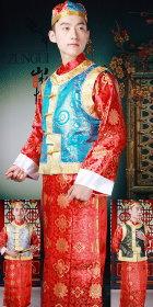 清朝少爺貝勒爺套裝連帽子(成衣)