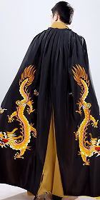 Men's Hanfu Dragon Embroidery Cloak - Black (RM)