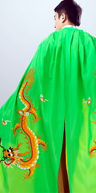Men's Hanfu Dragon Embroidery Cloak - Green(RM)