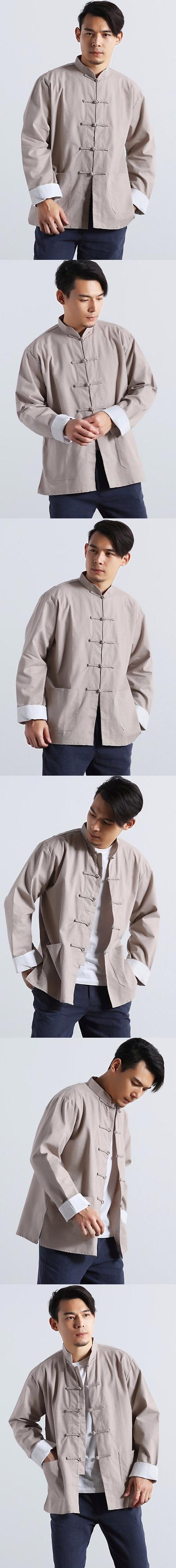 Mandarin Plain Linen Shirt (RM)