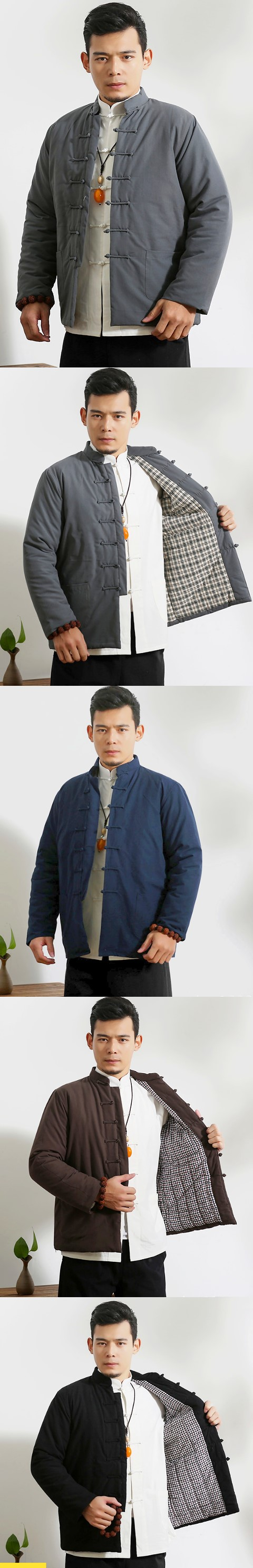 Mandarin Coarse Cotton Wadded Jacket (RM)