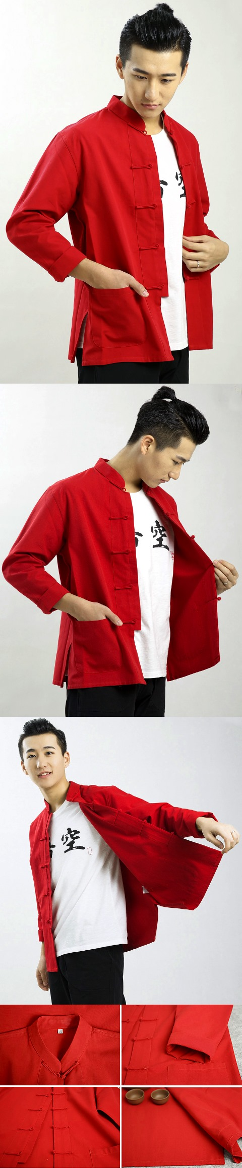 Mandarin Plain Cotton Shirt (RM)
