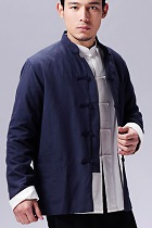 Mandarin Plain Cotton Jacket (RM)