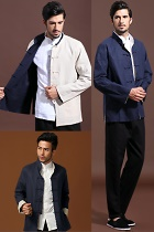 Mandarin Reversible Cotton-linen Jacket (CM)