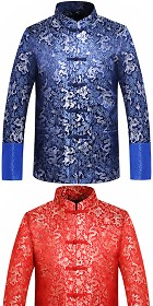 Mandarin Dense Dragon Brocade Jacket (CM)